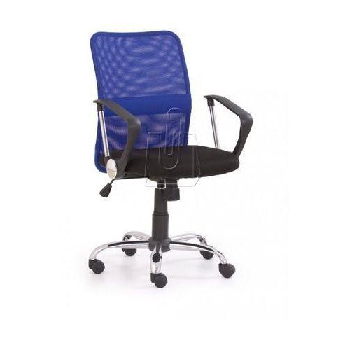 Fotel pracowniczy Tony niebieski - gwarancja bezpiecznych zakupów - WYSYŁKA 24H, kolor niebieski