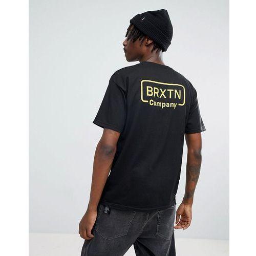 Brixton crosswhite t-shirt with back print - black