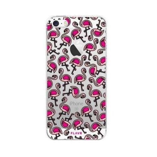 Etui iplate flamingos do apple iphone 5/5s/se wielokolorowy (27094) marki Flavr