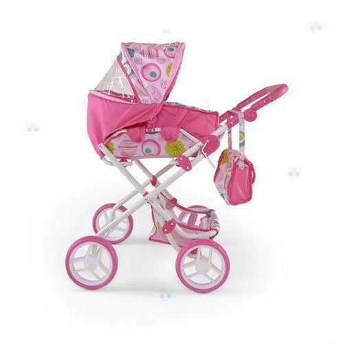 Wózek dla lalek Paulina różowo-biały - oferta [05dbd34bd35f15b5]
