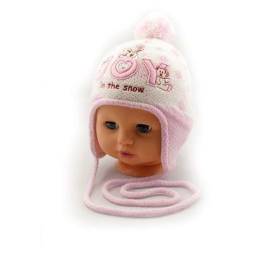 """Czapka dla dziecka Barbaras Y11/9011 """"24h"""" 38/42, ekri-róż. Barbaras, 38/42"""
