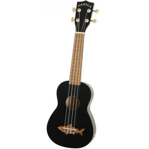 Kala makala shark ukulele sopranowe, czarne