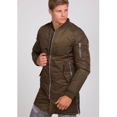 Khaki kurtka męska przejściowa Denley AK903, kolor zielony