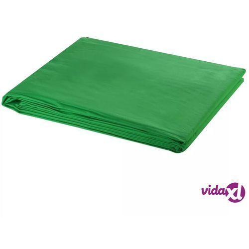 Vidaxl zielone tło fotograficzne, bawełniane, 600 x 300 cm, chroma key (8718475814580)