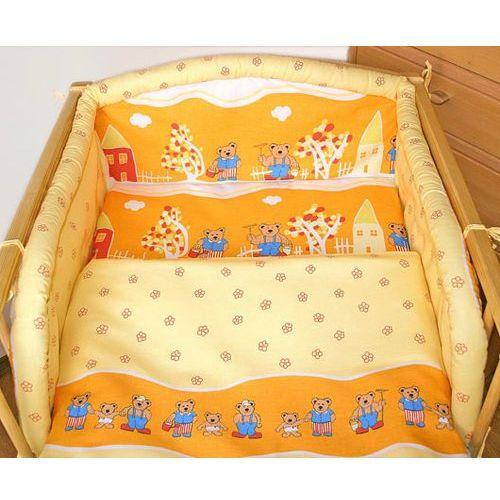 MAMO-TATO pościel dla dzieci 3-el Pomarańczowe miasteczko do łóżeczka 60x120cm