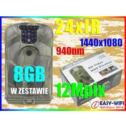 KAMERA LEŚNA HD NIEWIDOCZNE 24IR 940nm IP54 +8GB (kamera monitoringowa)