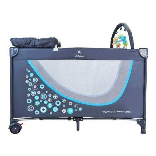 Łóżeczko turystyczne BABYONO 293/02 z pełnym wyposażeniem Szaro-niebieski - produkt dostępny w Media Expert