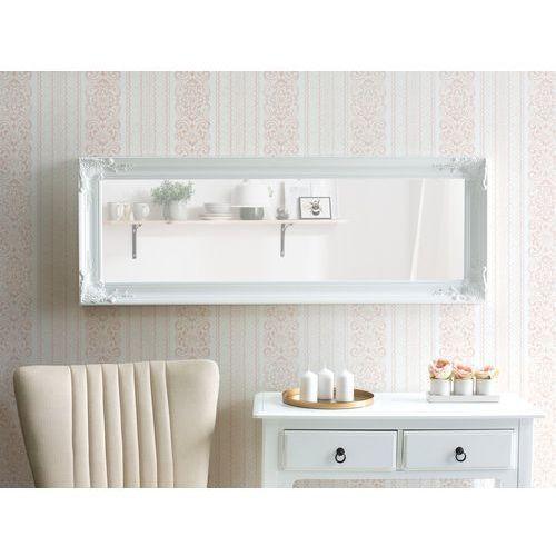 Beliani Lustro ścienne białe 60 x 150 cm vars