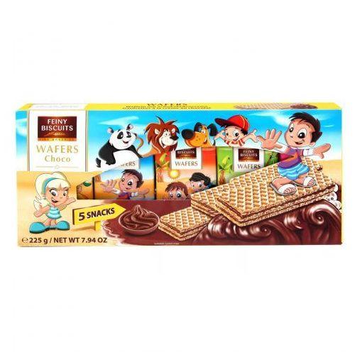 dziecięce wafle z kremem czekoladowym 225g (5x45g) marki Feiny biscuits