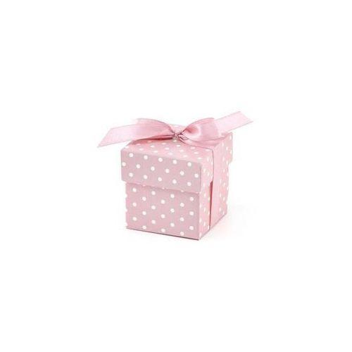 Ap Pudełeczka dla gości z kokardką różowe - 10 szt. (5901157437129)