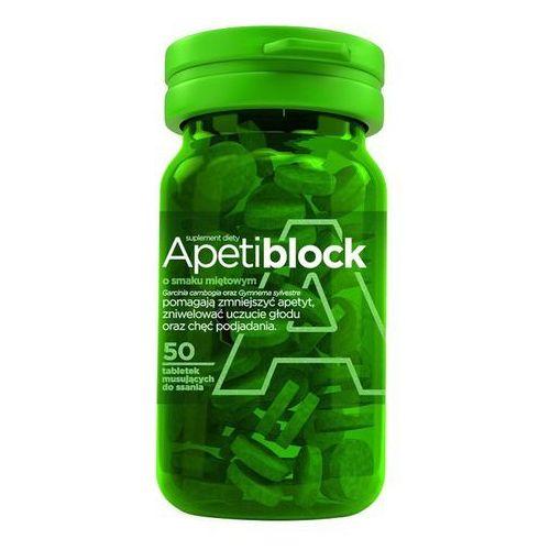 APETIBLOCK smak miętowy 50 tabletek musujących - tabletki Tabletkina odchudzanie