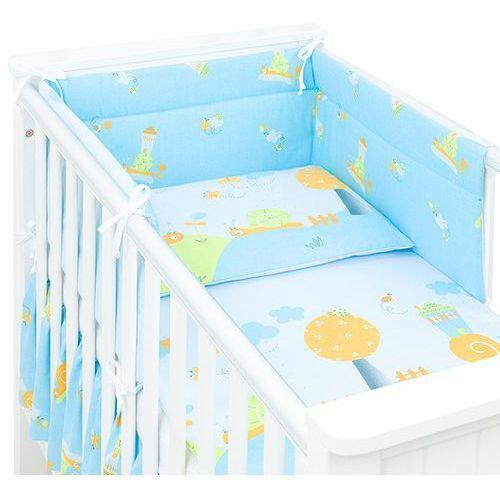 3-el dwustronna pościel dla niemowląt ślimaki w błękicie do łóżeczka 70x140 cm marki Mamo-tato