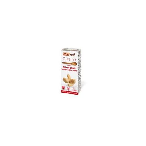 Krem do gotowania z orzechów nerkowca niesłodzony BIO 200 ml ECOMIL (8428532192376)