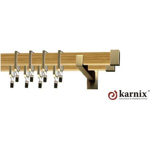 Karnisz Apartamentowy Errano podwójny 31x13/31x13mm Loreto Antyk mosiądz - pinia - oferta [25584b7ec79594d7]