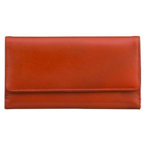 cd520de923d3d Damski portfel skórzany ochrona kart zbliżeniowych rfid (czerwony) -  czerwony połysk marki Koruma® 149