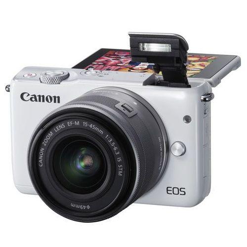Canon Aparat eos m100 biały + obiektyw ef-m 15-45mm is stm + zamów z dostawą jutro! (8714574654546)