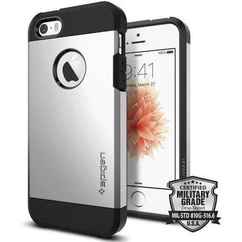 SGP - Spigen Tough Armor Srebrny | Pancerna obudowa dedykowana dla modelu Apple iPhone 5 / 5S / SE - Srebrny