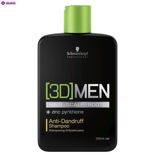 Schwarzkopf 3dmen, szampon przeciwłupieżowy dla mężczyzn, 250ml (4045787264449)