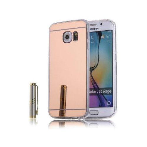 Slim mirror case różowy   etui dla samsung galaxy s6 edge - różowy
