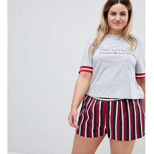 ASOS DESIGN Curve More Self Love Tee & Woven Short Pyjama Set - Multi