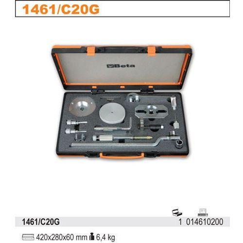 Zestaw narzędzi do blokowania i ustawiania układu rozrządu w silnikach diesla fiat iveco/peugeot/citroen/ford, model 1461/c20g, marki Beta