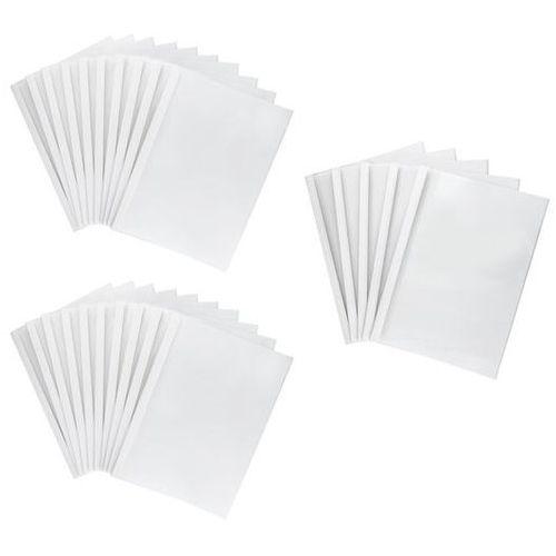 Okładki do termobindowania, A4, 12mm, do 120 kartek (80g/m2), białe, 25 sztuk