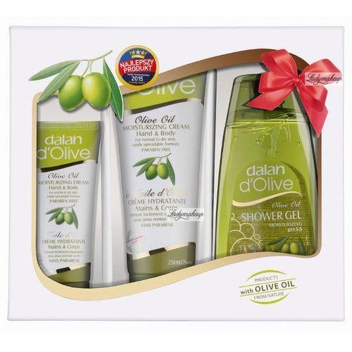 Dalan  - olive oil - świąteczny zestaw kosmetyków oliwkowych (2 kremy do rąk i ciała, żel pod prysznic) marki D'olive