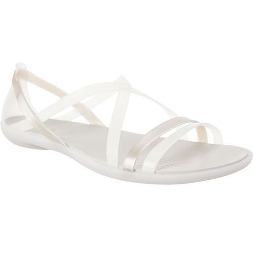 Crocs Sandały isabella strappy sandal oyster/pearl white oyster/pearl white