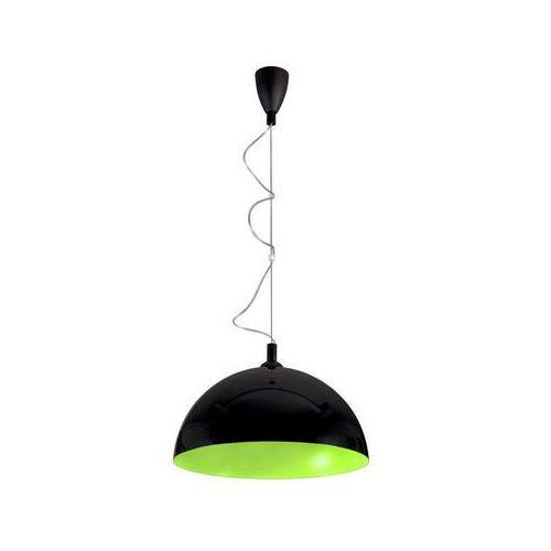 Lampa wisząca hemisphere black-green fluo l by marki Nowodvorski