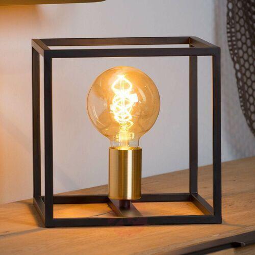 Lucide Ruben 00524/01/30 Lampa stołowa lampka 1x40W E27 czarna/satynowy mosiądz