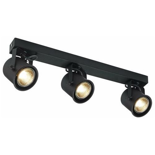 Kaspa Spot lampa regulowana alter 3 50281302 ścienna oprawa halogenowa sufitowa listwa metalowy reflektor czarny (5902047301339)