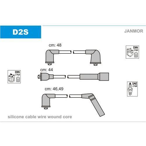 Zestaw przewodów zapłonowych JANMOR D2S (5902925001627)