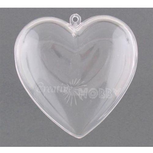 Bombka akrylowa serce 100 mm
