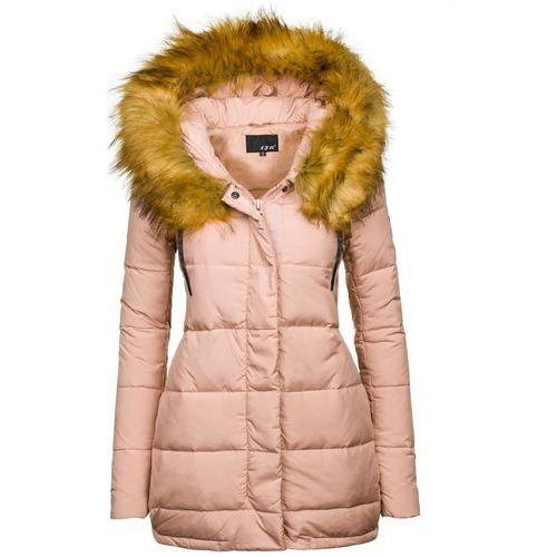 Pudroworóżowa kurtka zimowa damska Denley 8062 - PUDROWO-RÓŻOWY - produkt z kategorii- Kurtki damskie