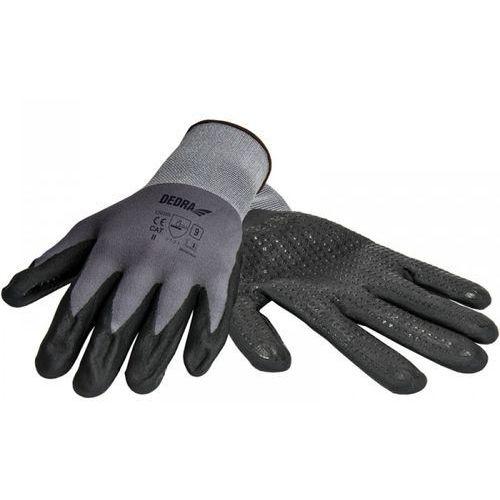 Rękawice robocze DEDRA BH1006R10 Czarno-szary (rozmiar XL) (5902628210678)