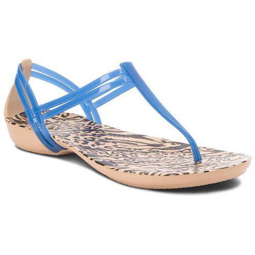 Sandały - isabella graphic t-strap 204859 blue jean/animal, Crocs, 36.5-41.5