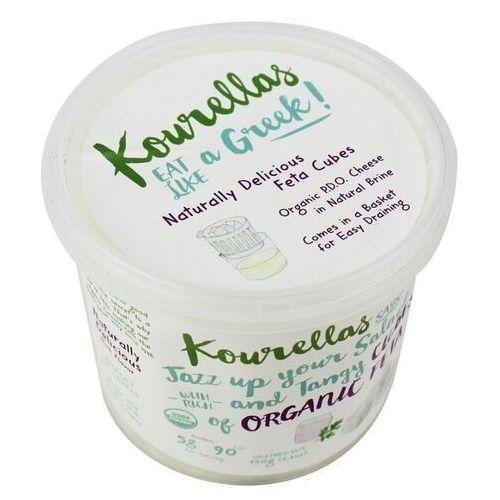 Kourellas (świeże produkty greck Ser feta w kostkach w zalewie solankowej bio 350 g - kourellas (5200101979570)