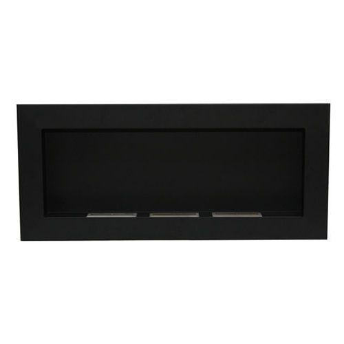 Biokominek dekoracyjny prostokątny 90x40 czarny Flat by , EcoFire z ExitoDesign