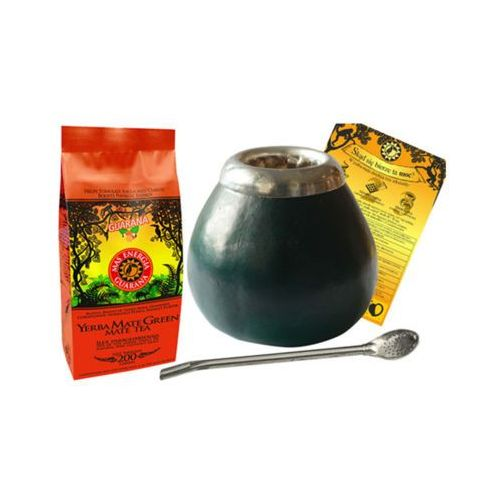 YERBA MATE Zestaw 200g YERBA MATE Green mas energia guarana + tykwa + Bombilla