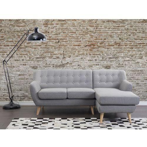 Sofa jasnoszara - kanapa - tapicerowana - narożnik - MOTALA