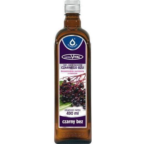 Oleofarm Sambuvital czarny bez 100% sok z owoców czarnego bzu 490ml