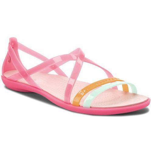 Sandały - isabella cut strappy sandal w 205149 paradise pink /rose dust, Crocs, 36.5-41.5