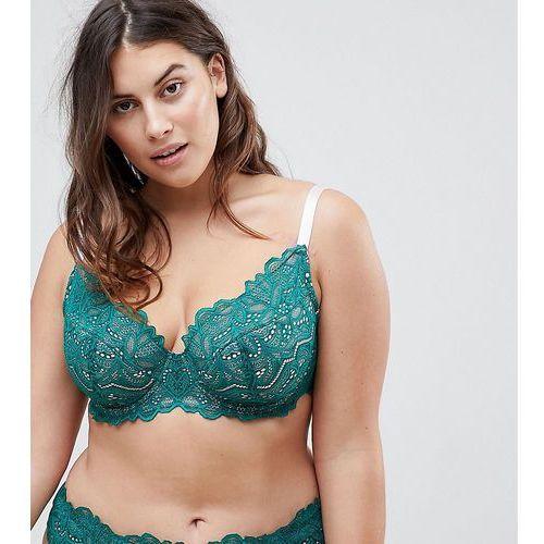 Asos curve amelia paisley lace padded underwire bra - multi