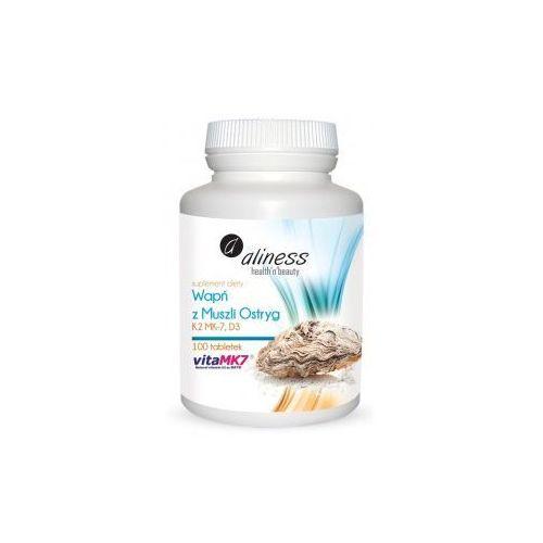 Tabletki Wapń z muszli ostryg z wit. K2mk7 i D3, 100 tabletek