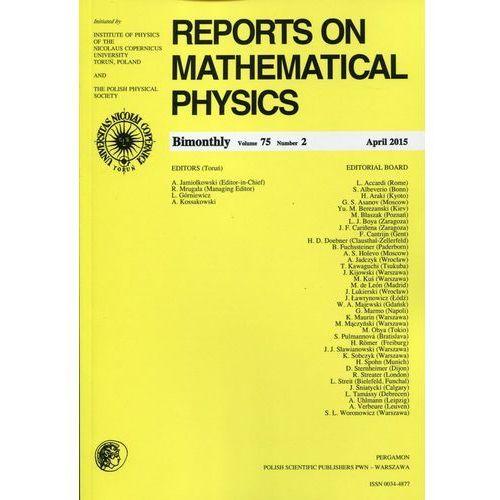 Reports on Mathematical Physics 75/2 2015 Pergamon