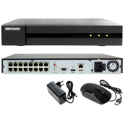 Rejestrator cyfrowy sieciowy ip do monitoringu sklepu, biura hwn-4216mh-16p marki Hikvision hiwatch