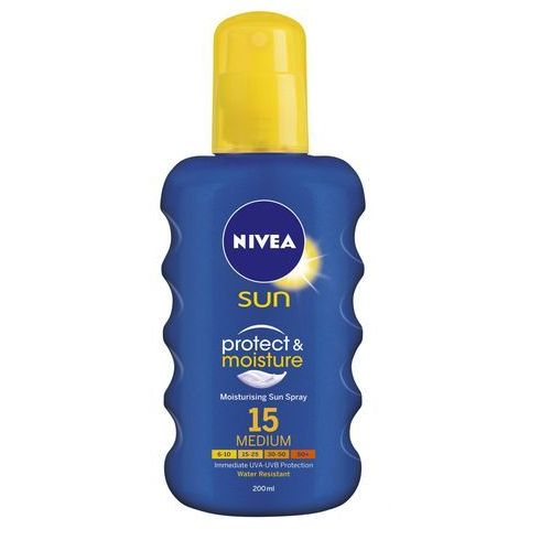 Nivea sun protect & moisture spray do opalania spf 15 (sun spray) 200 ml