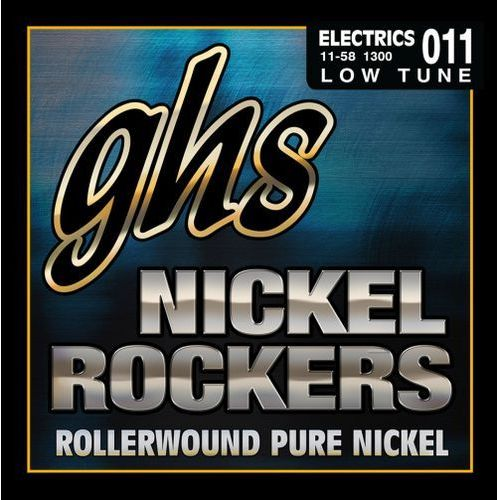 GHS NICKEL ROCKERS struny do gitary elektrycznej, Lo-Tune,.011-.058, Rollerwound