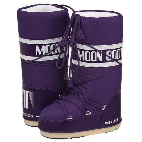 Śniegowce Moon Boot Nylon Violet 14004400055 (MB2-m), kolor fioletowy