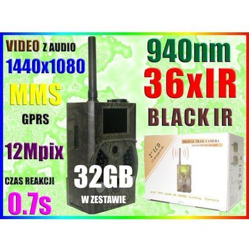 KAMERA LEŚNA NAGRYWA VIDEO HD NA microSD MMS +32GB (kamera monitoringowa)